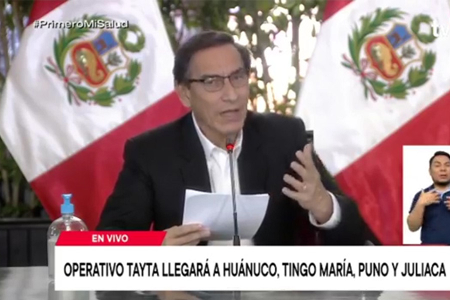 Vizcarra: Operación Tayta se intensificará en todas las regiones y en menor tiempo