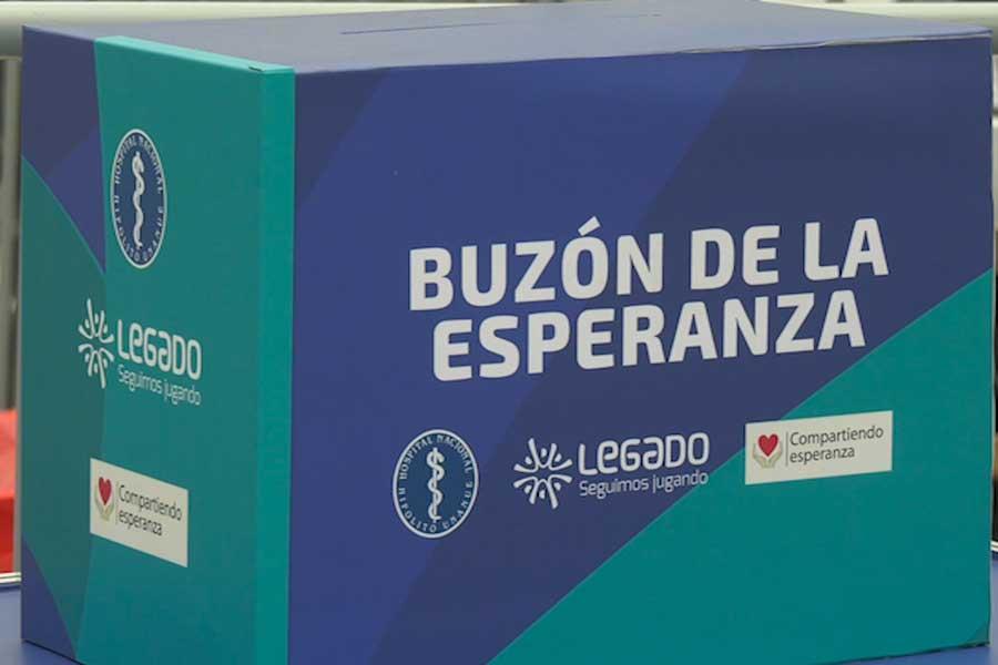 Coronavirus: instalan buzón de la esperanza para pacientes