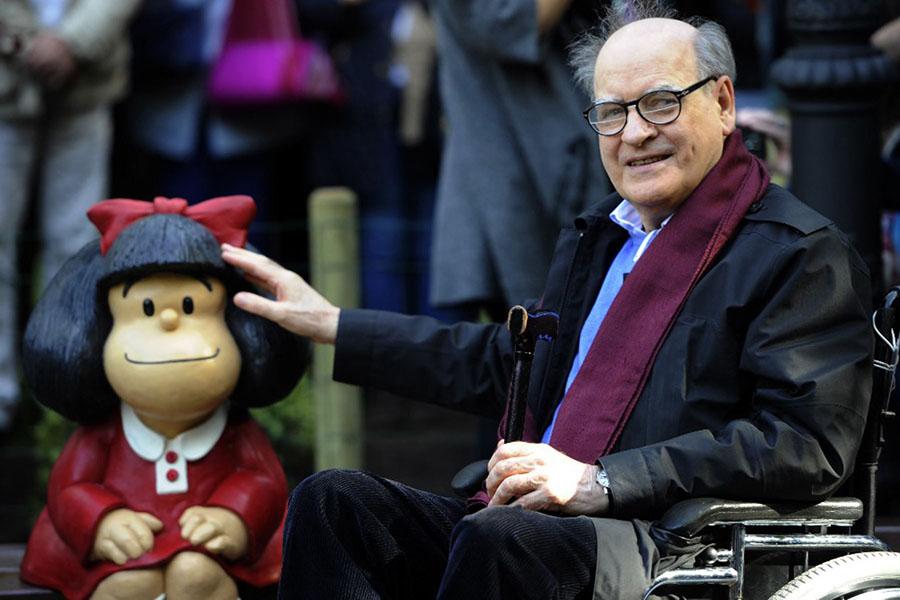 """Quino, el """"padre"""" de Mafalda fallece a los 88 años"""