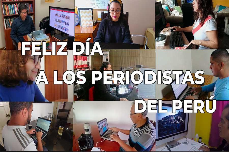 ¡Feliz día a los periodistas del Perú!