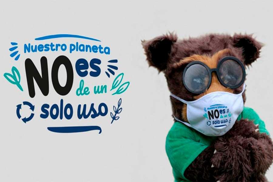 El planeta no es de un solo uso: campaña concientiza sobre contaminación por mascarillas