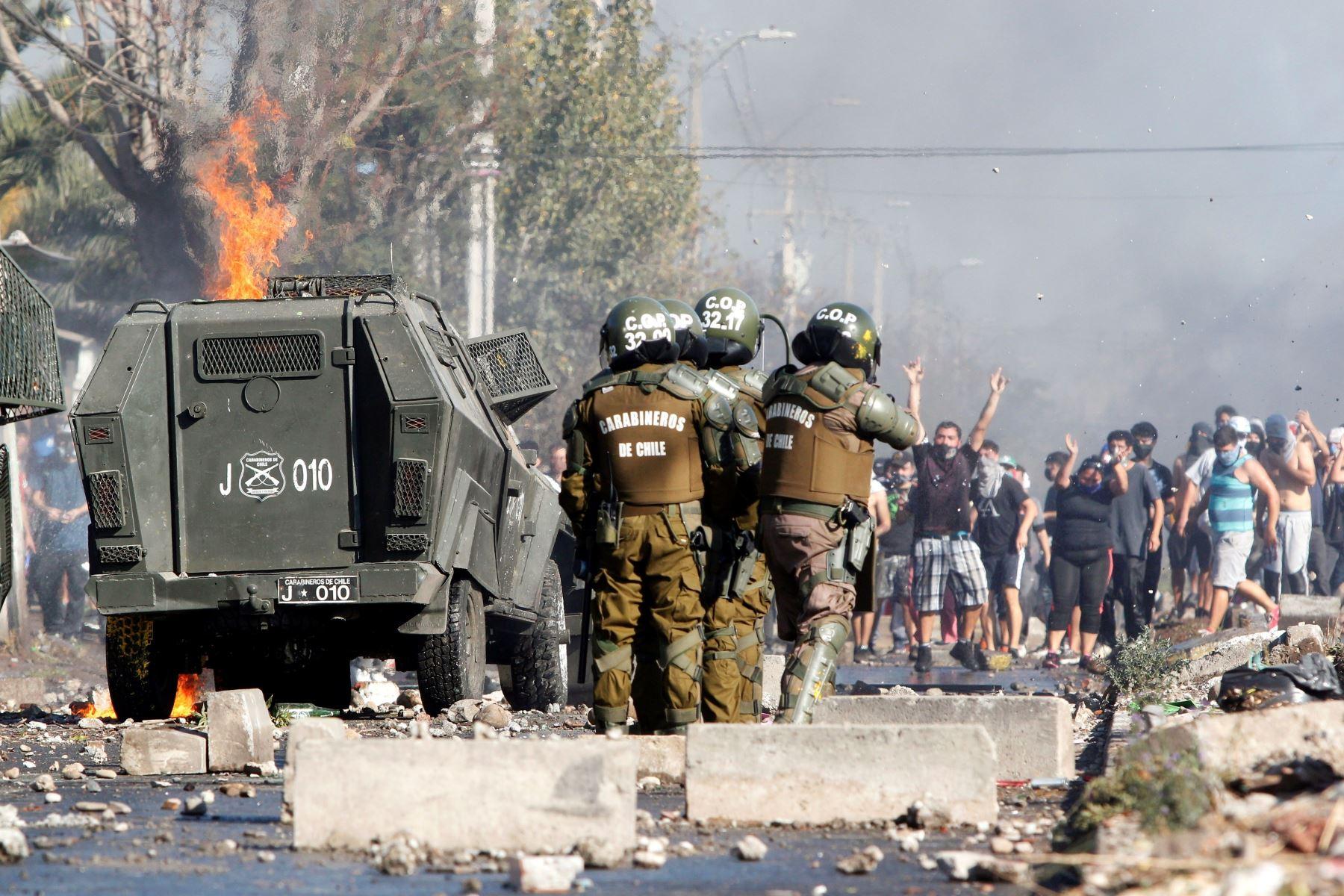 Disturbios en Chile a dos días del plebiscito constitucional