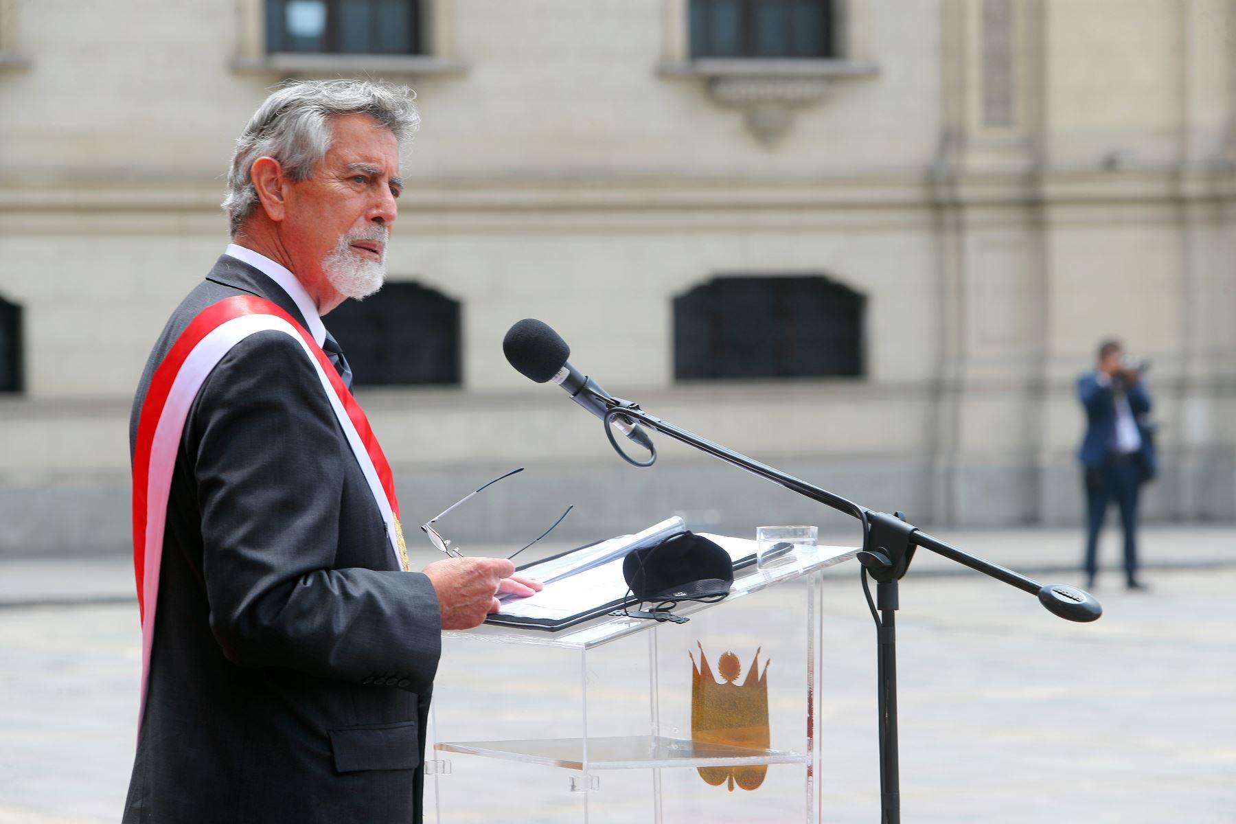 Presidente Sagasti: no descansaremos hasta identificar a los responsables