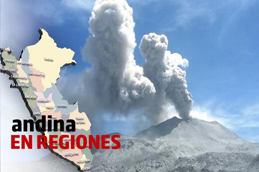 Arequipa: volcán Sabancaya registró explosiones con emisiones de cenizas