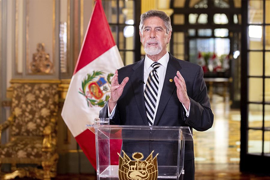 Presidente Sagasti llama a promover un comportamiento ético, consciente y solidario