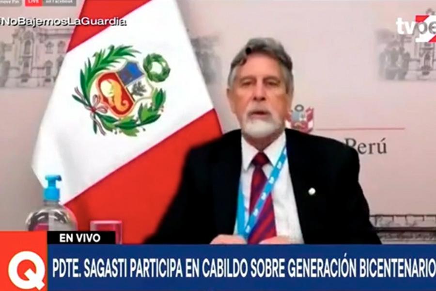 Presidente Sagasti: Bicentenario es ocasión para renovar vocación de servicio
