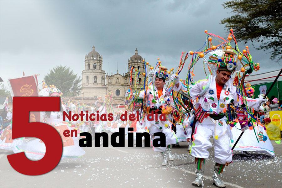 La 5 del día: Cajamarca cancela su tradicional carnaval por el coronavirus