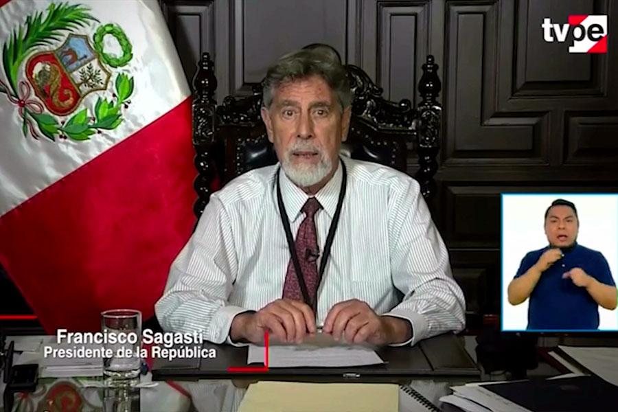 Presidente anuncia cuarentena para Lima y otras nueve regiones