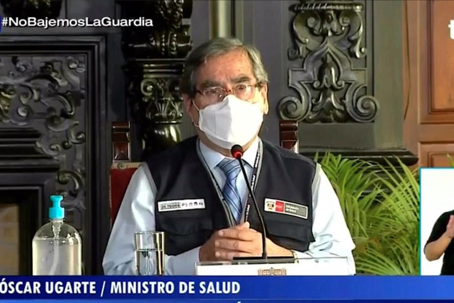 Ugarte: Hay una tendencia a la reducción de nuevos casos y defunciones por covid-19