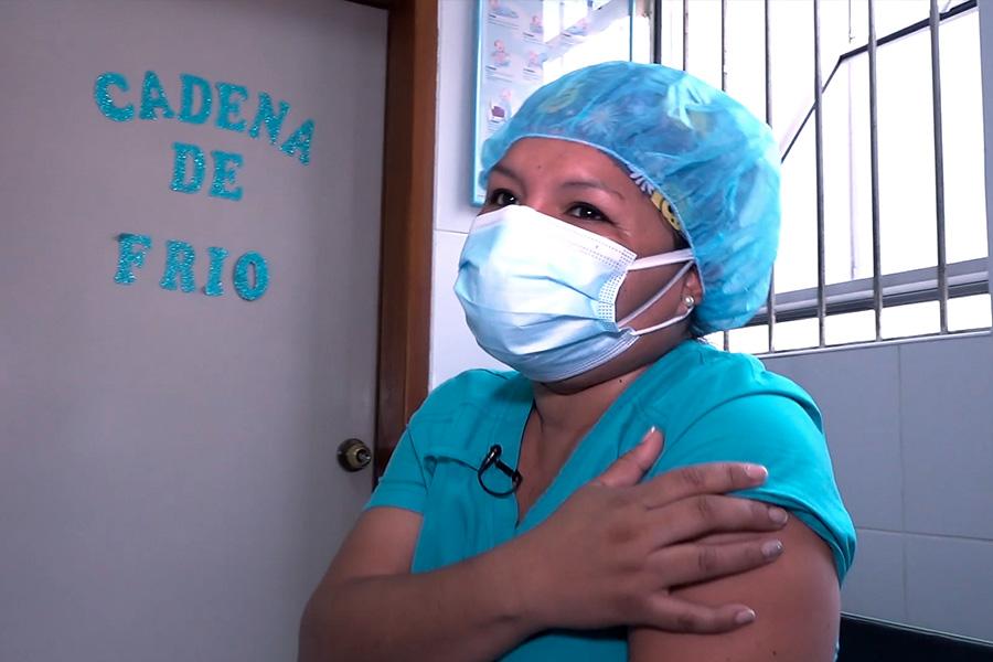 Enfermera vacunada contra covid-19: deseo que todos los peruanos accedan a la vacuna