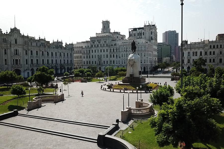 Lima desierta este primer domingo de inmovilización social obligatoria