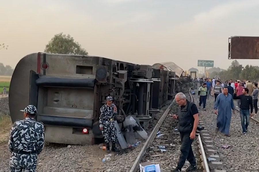 Egipto: accidente ferroviario dejó al menos una decena de muertos
