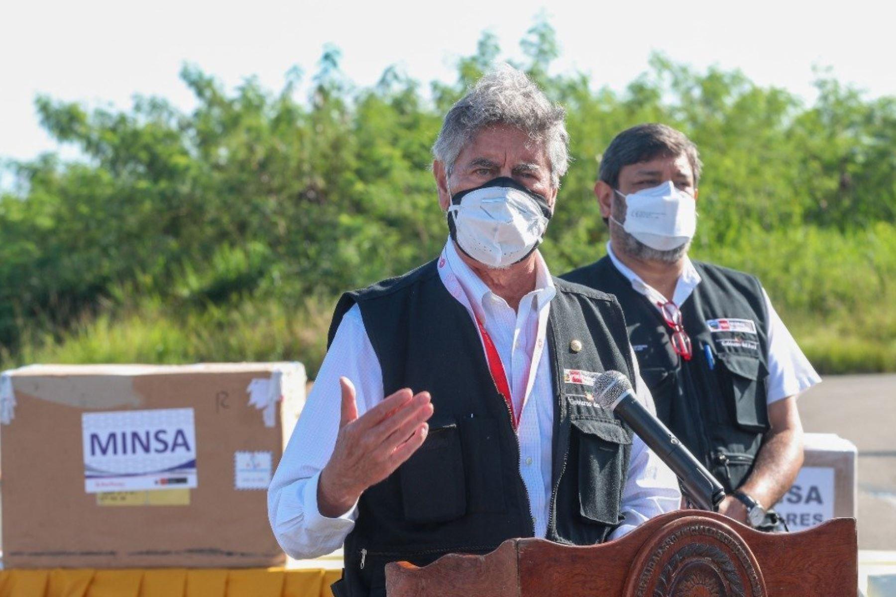 Presidente Sagasti anuncia distribución de vacunas a todas las regiones del país