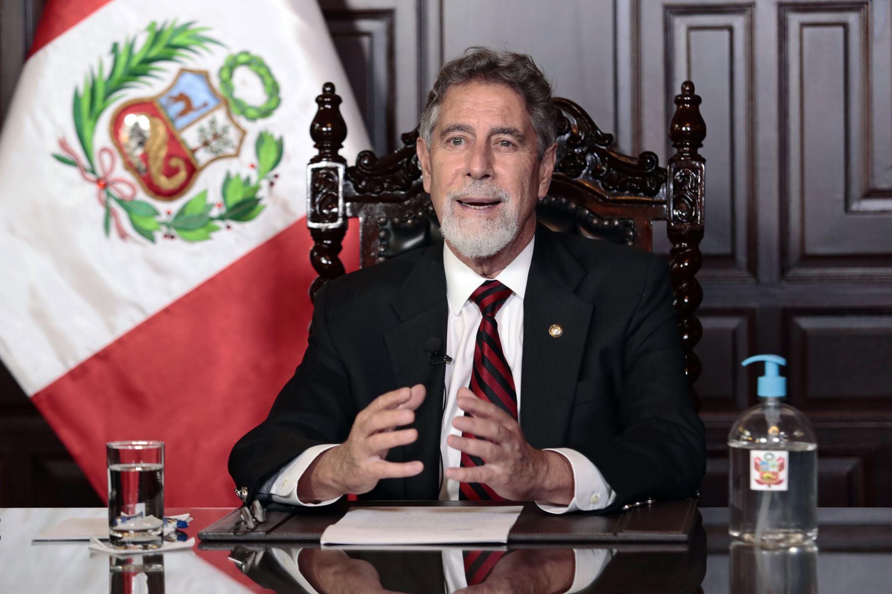Presidente Sagasti pide acceso equitativo y transparente a vacunas