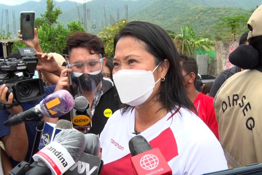 Keiko Fujimori plantea crear Ministerio de Pesquería sin generar más gastos