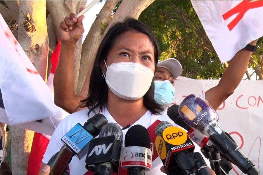 Fujimori pide a Castillo fijar día y hora para debatir en penal de Chorrillos