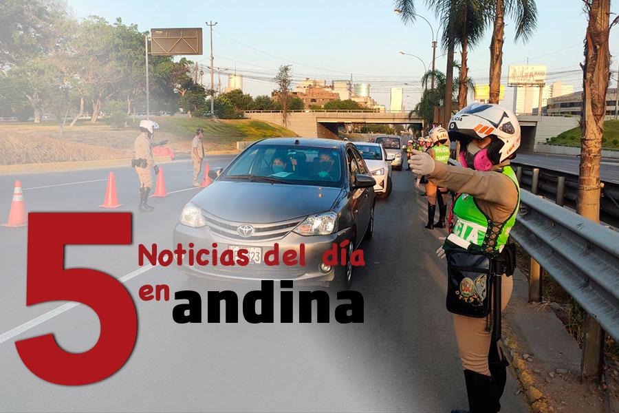 Las 5 del día: Lima y Callao: desde hoy y hasta el 30 de mayo rigen nuevas restricciones