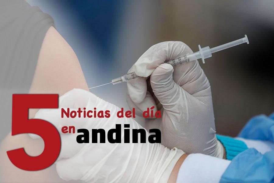 Las 5 del día: Vacunadores están obligados a mostrar jeringa con vacuna antes de aplicarla