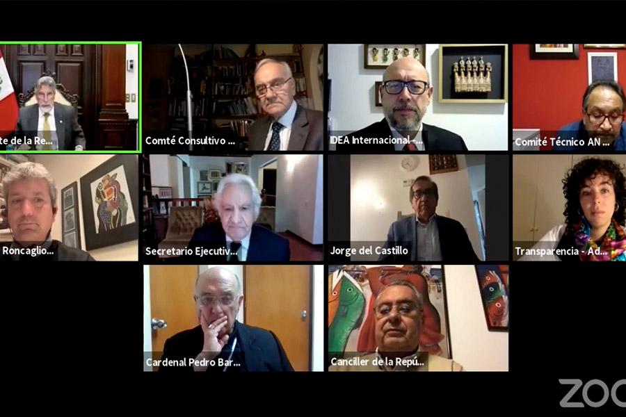 Presidente Sagasti resalta labor de Rafael Roncagliolo a favor de la democracia