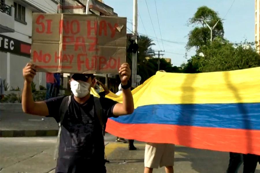 Colombianos divididos ante la organización de la Copa América
