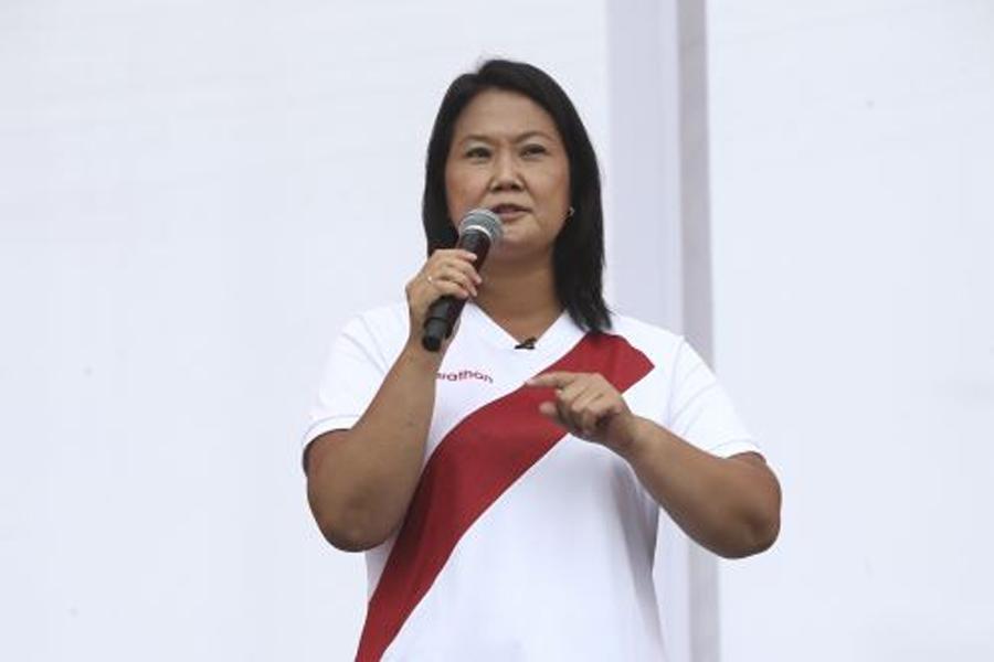 Keiko Fujimori critica a Castillo por no debatir con ella en Chorrillos