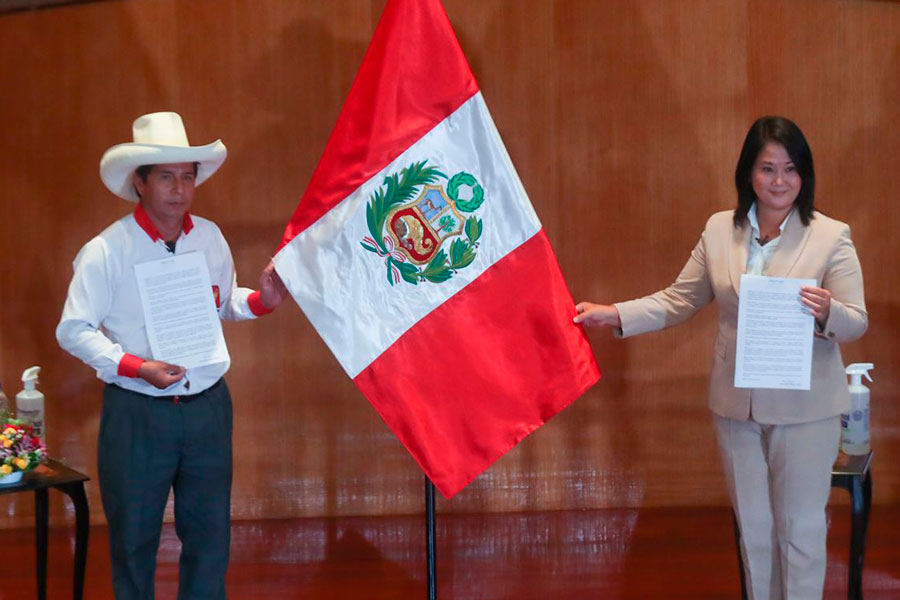 "Así fue la jura de la ""Proclama Ciudadana"" de Keiko Fujimori y Pedro Castillo"
