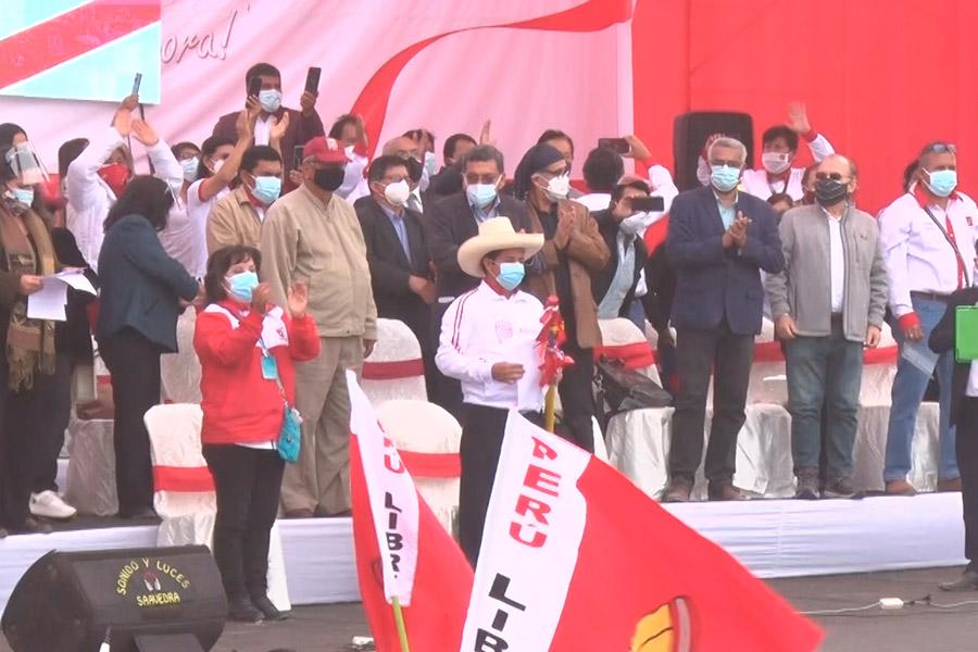 Pedro Castillo presentó equipo técnico de Perú Libre en Puente Piedra