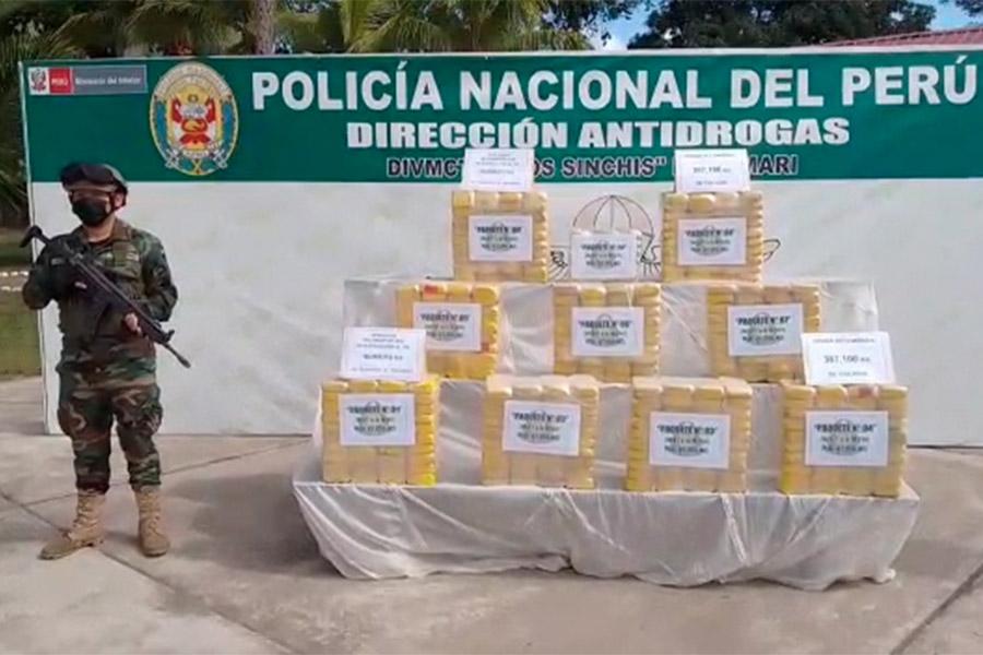 Vraem: Policía Nacional incauta más de 380 kg de cocaína
