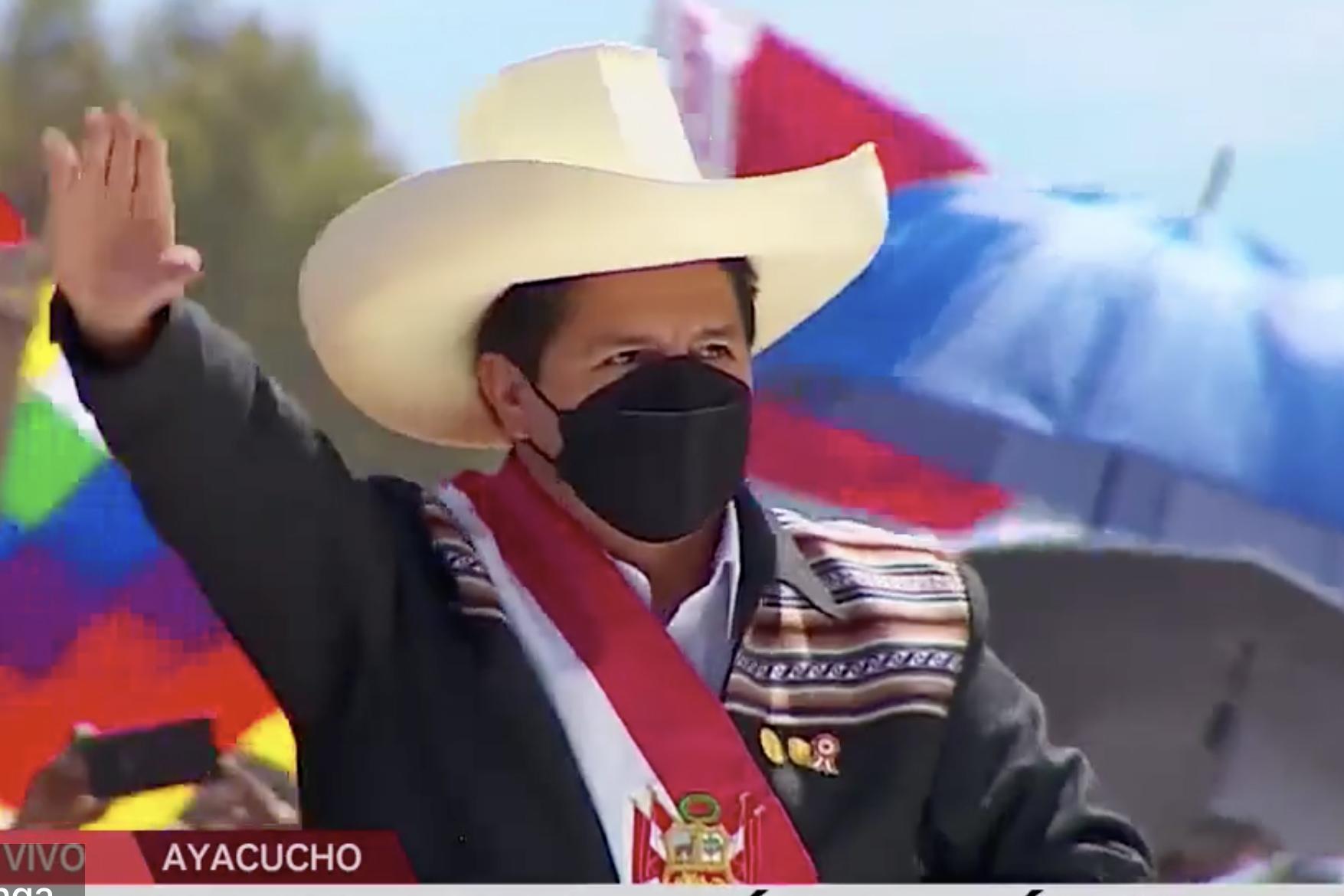 Presidente Castillo llega a Santuario histórico de la Pampa de Ayacucho