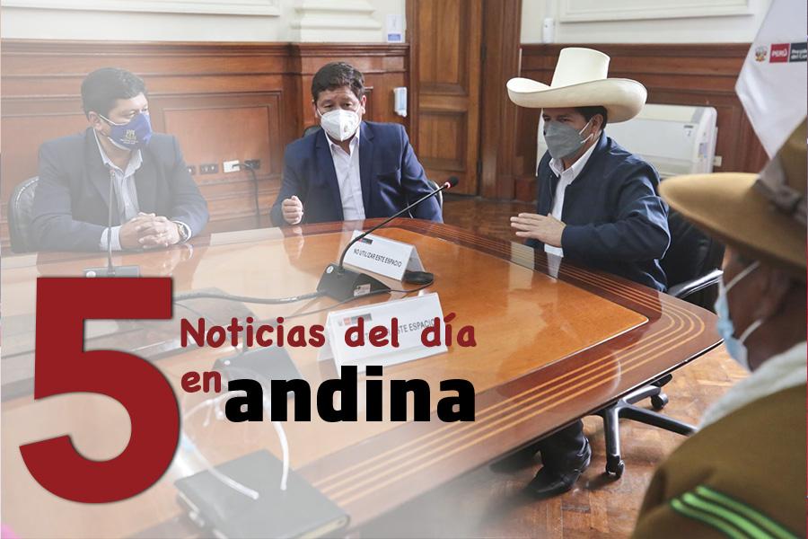 Las 5 del día: Guido Bellido afirma que mecanismos de diálogo es política del gobierno