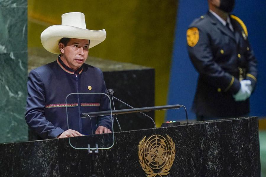 Castillo plantea en la ONU acuerdo que garantice acceso universal a vacunas