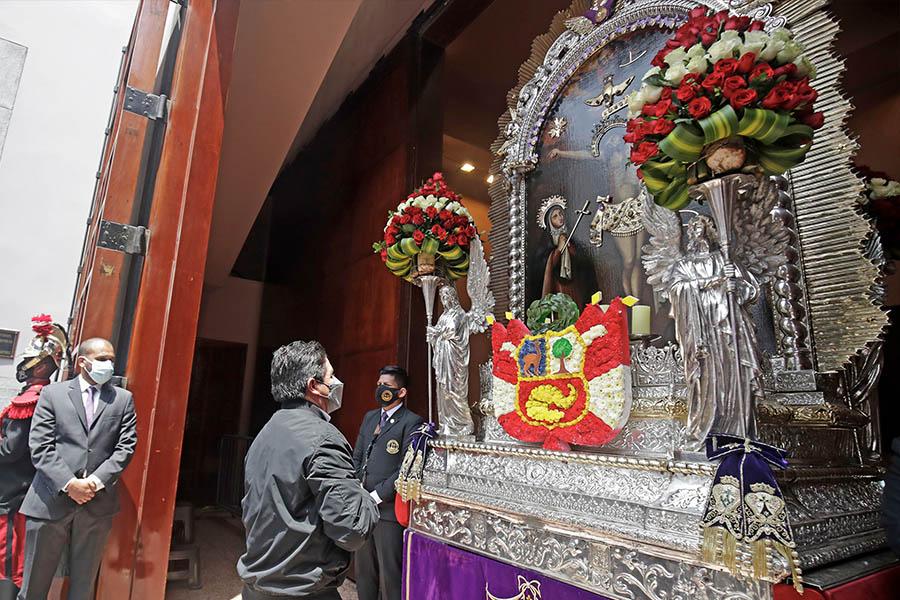 Presidente Castillo participó en misa por la Nación en Las Nazarenas