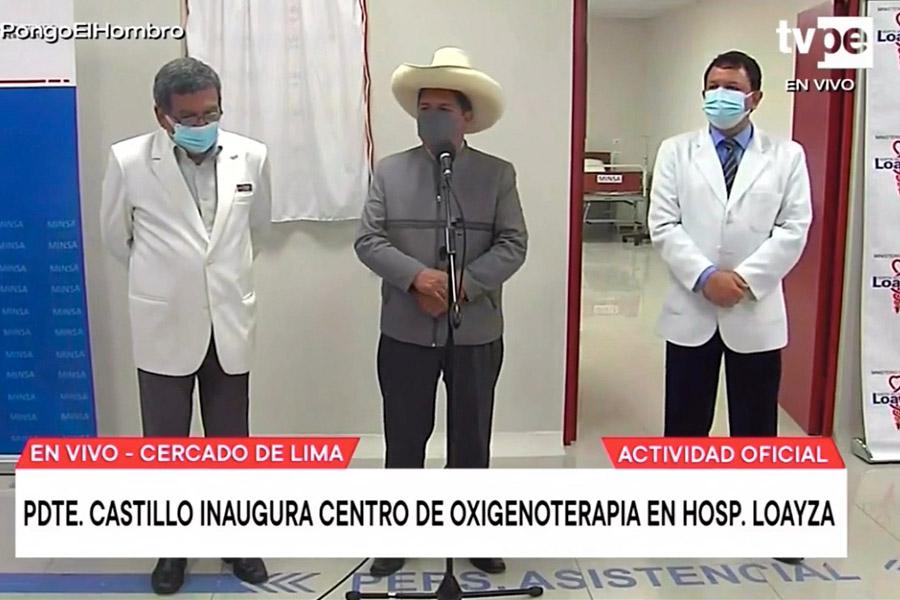 Presidente Castillo: trabajaremos por la salud de los peruanos cueste lo que cueste