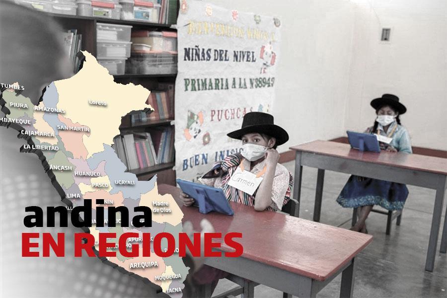 Coronavirus en Perú: escolares regresaron a clases semi presenciales en Huari