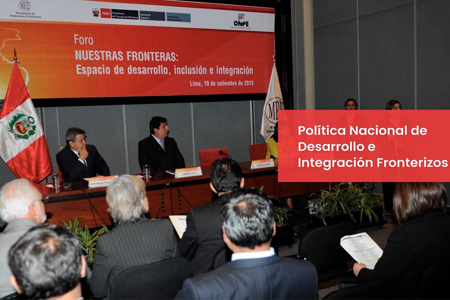 Cancillería explica en qué consiste la Política Nacional de Desarrollo e Integración Fronteriza