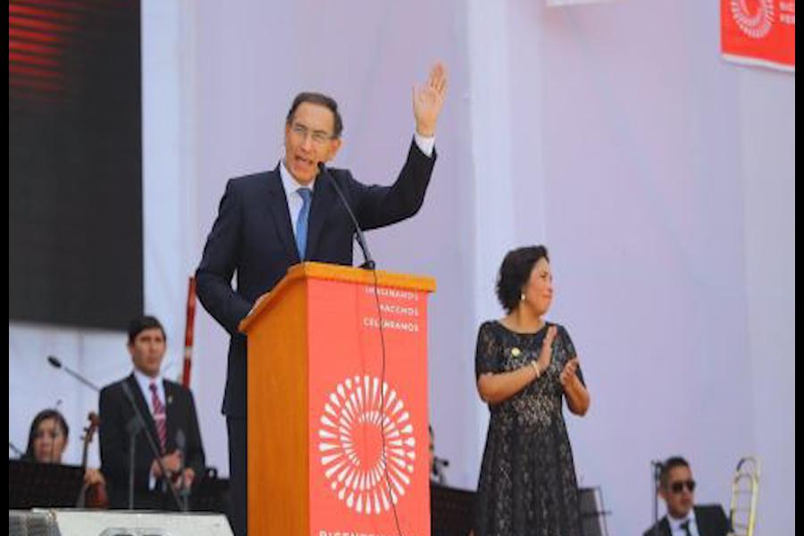 Presidente Vizcarra lanza Agenda Bicentenario en Ayacucho