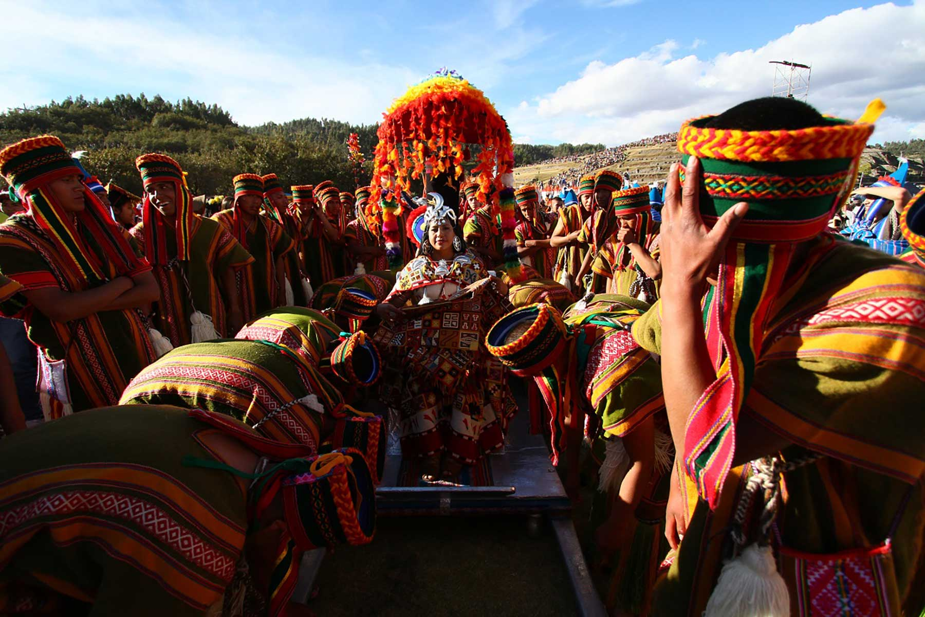 La coya o consorte principal del máximo gobernante del Tahuantinsuyo lo acompaña en cada momento de la evocación del Inti Raymi.