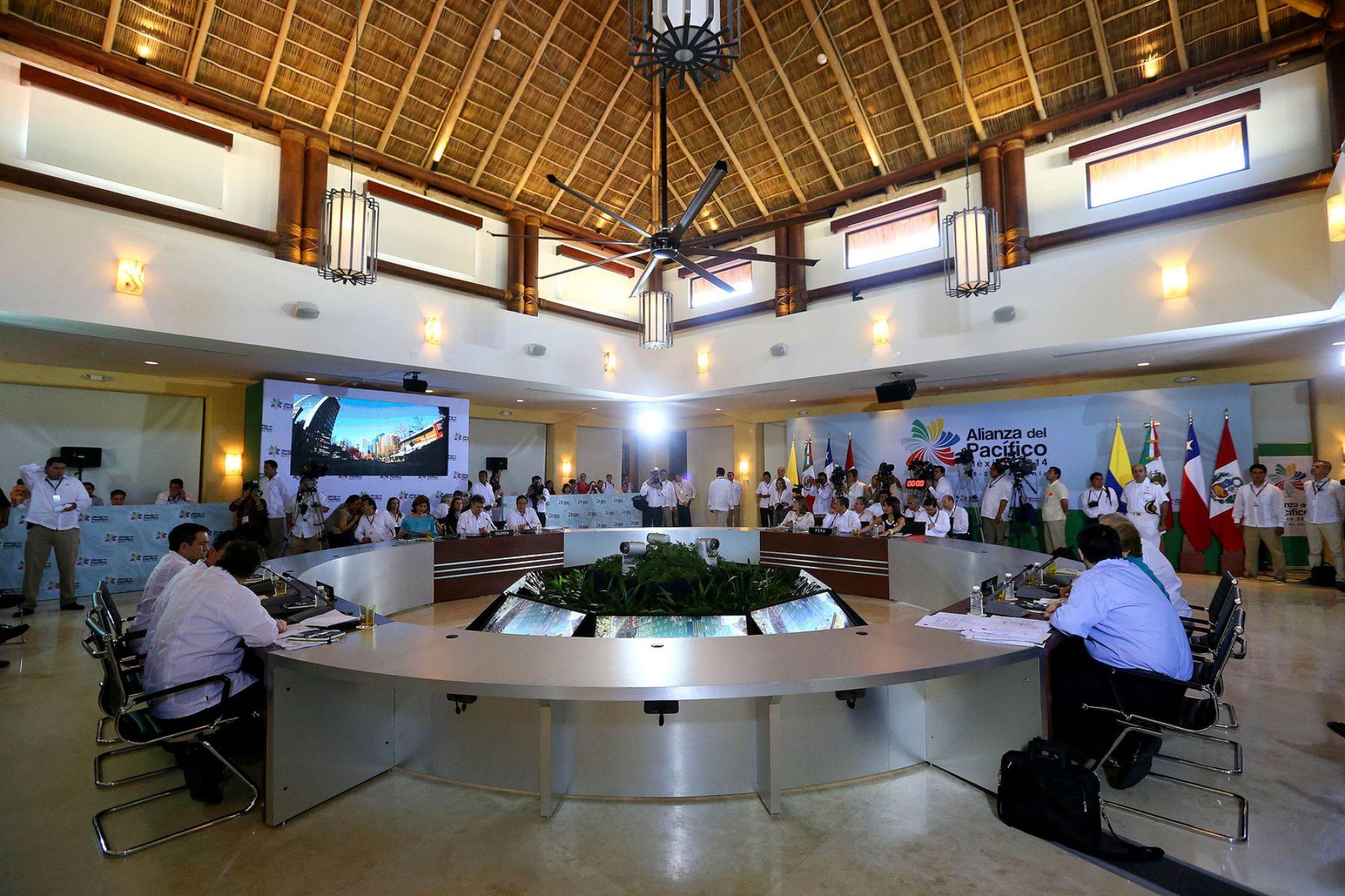 Inauguración de la IX Cumbre de la Alianza del Pacífico en Punta Mita (México) con participación del presidente Humala ANDINA/Prensa Presidencia