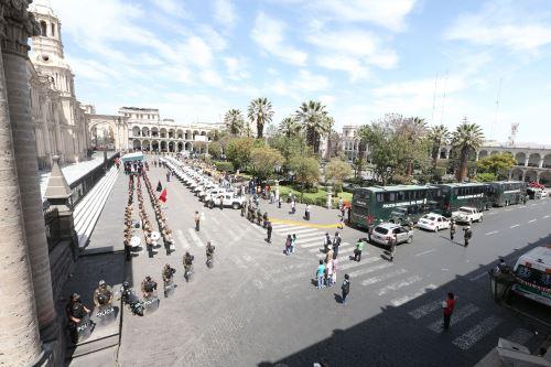 Este es el mayor descenso de temperatura que registra la ciudad de Arequipa en lo que va del año.