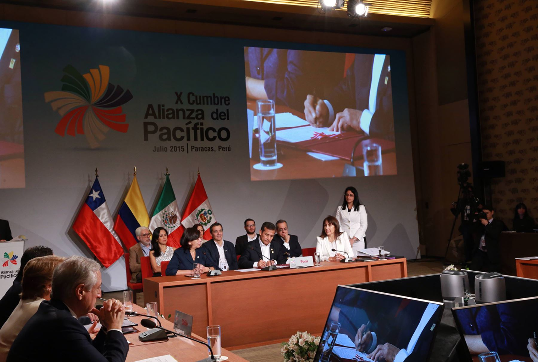Suscripción de la Declaración de Paracas y clausura de la X Cumbre de la Alianza del Pacífico. Foto: Prensa Presidencia